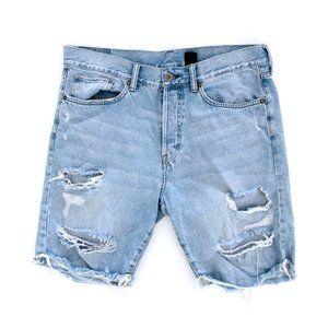 H&M &Denim Men's Grunge Worn Jean Shorts